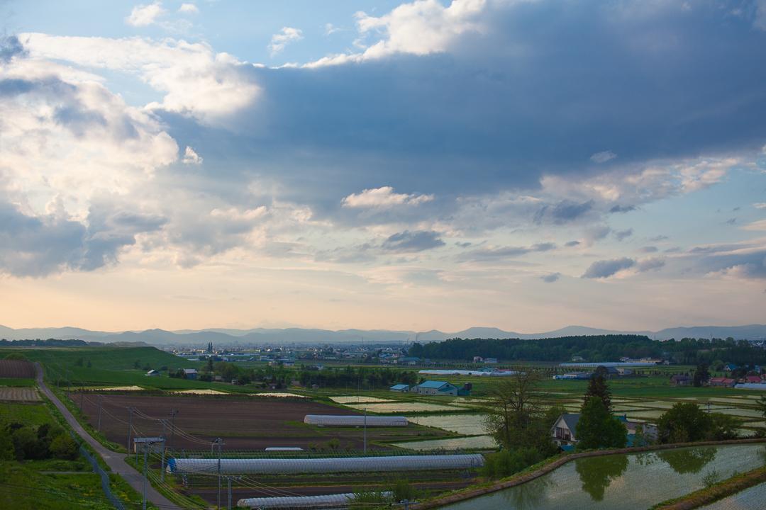 旭川空港から見た風景