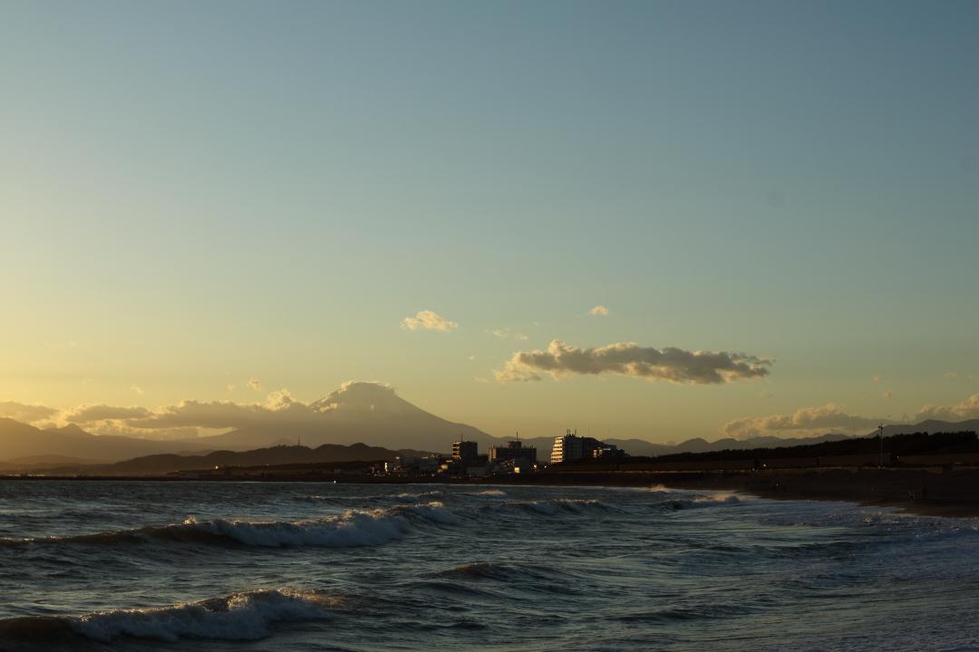 夕焼けと富士山(1)