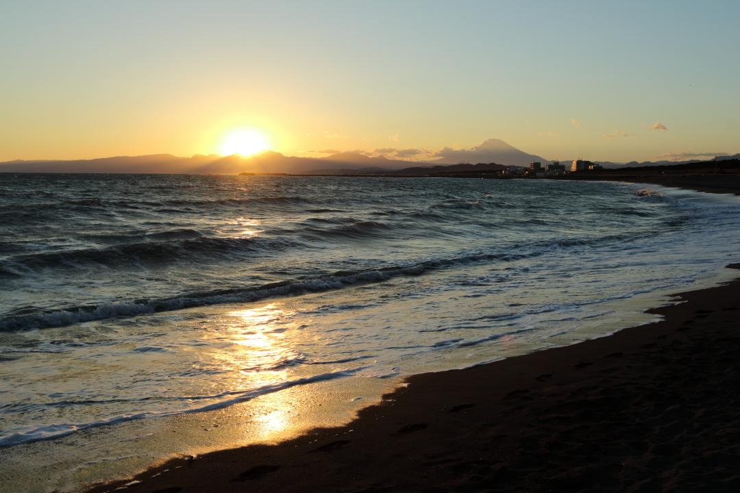 夕焼けと富士山(2)