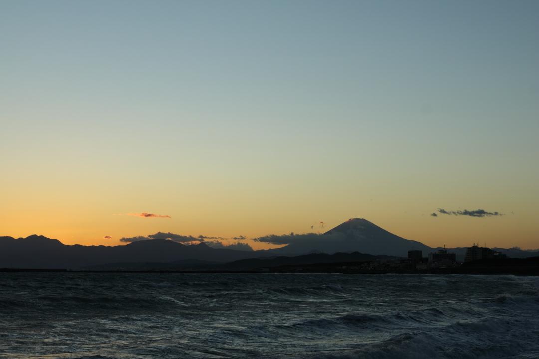 夕焼けと富士山(4)