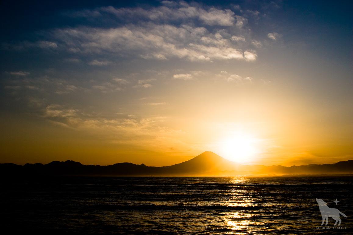 江ノ島から見た富士山 (2)