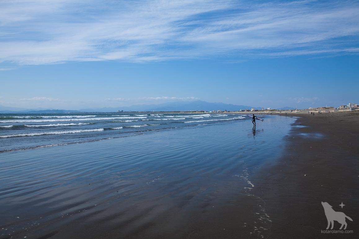 江ノ島近くの海