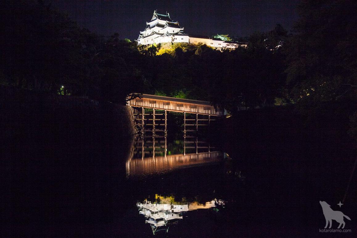 水面に映る和歌山城