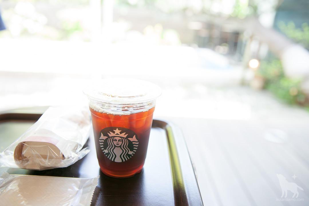 アイスコーヒーで一息