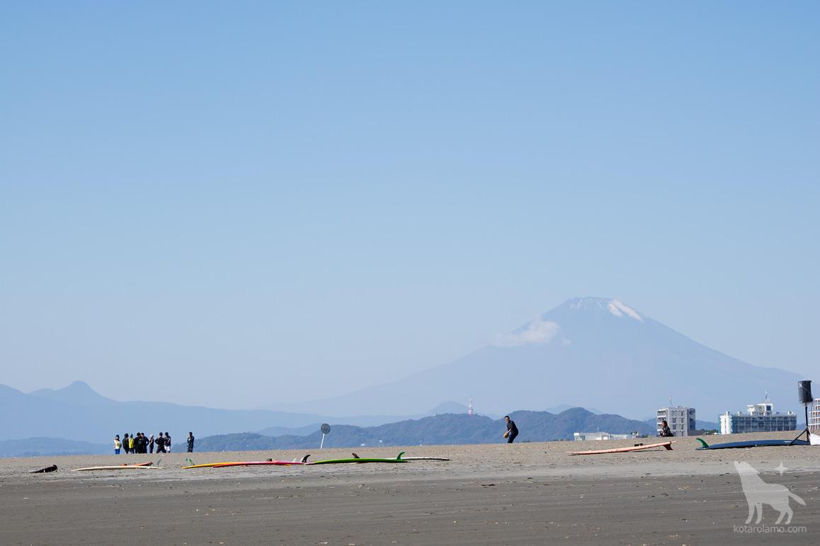 富士山とヘッドランドビーチ