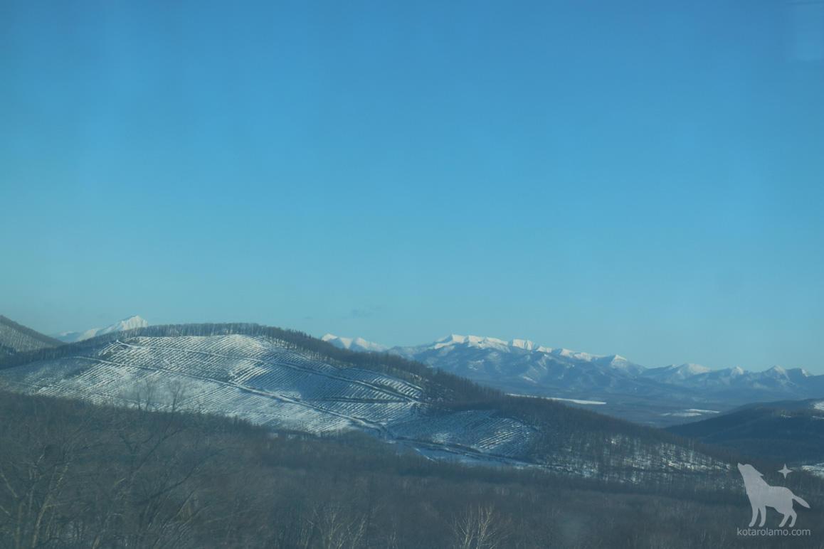 釧路から札幌へ。車窓からの風景
