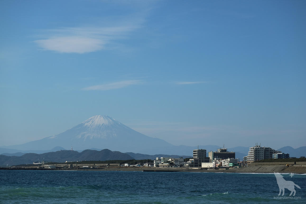 富士山とヘッドランドビーチ 正月バージョン
