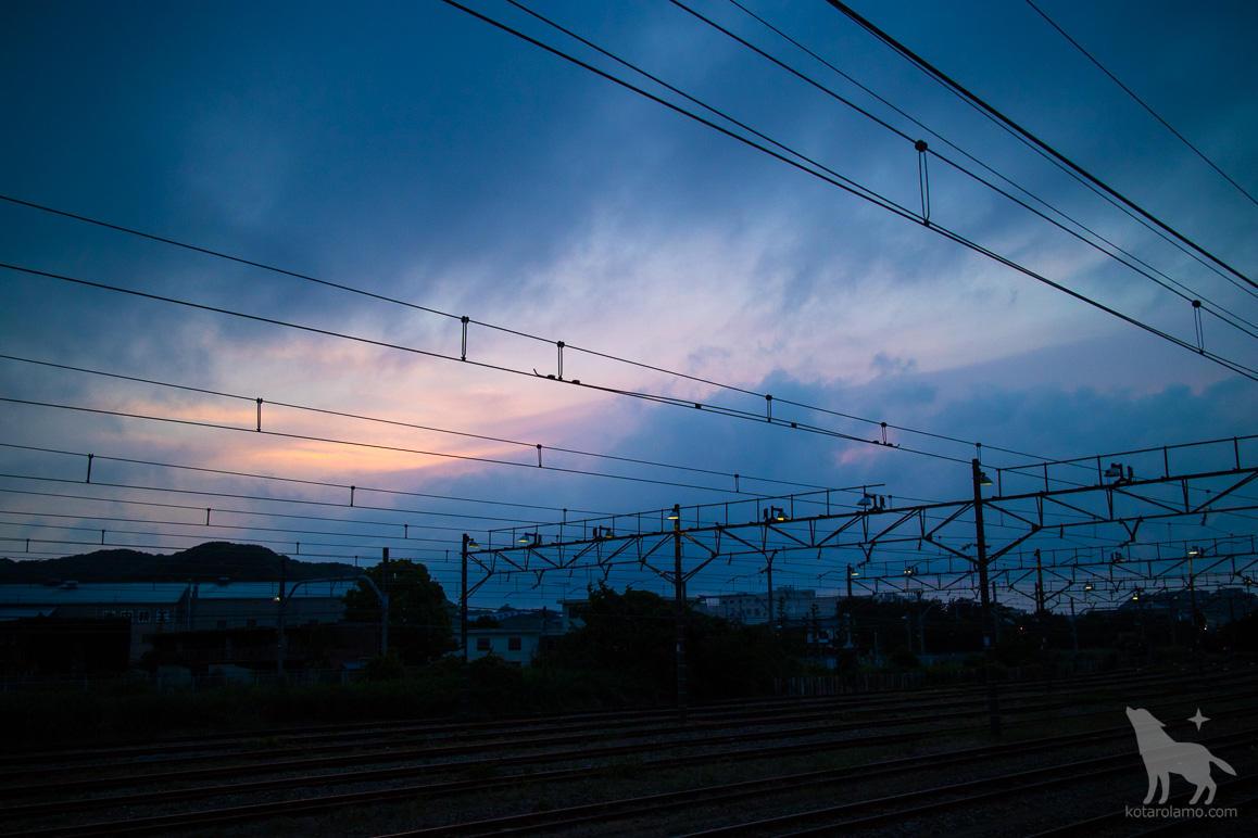 久里浜駅のホームから