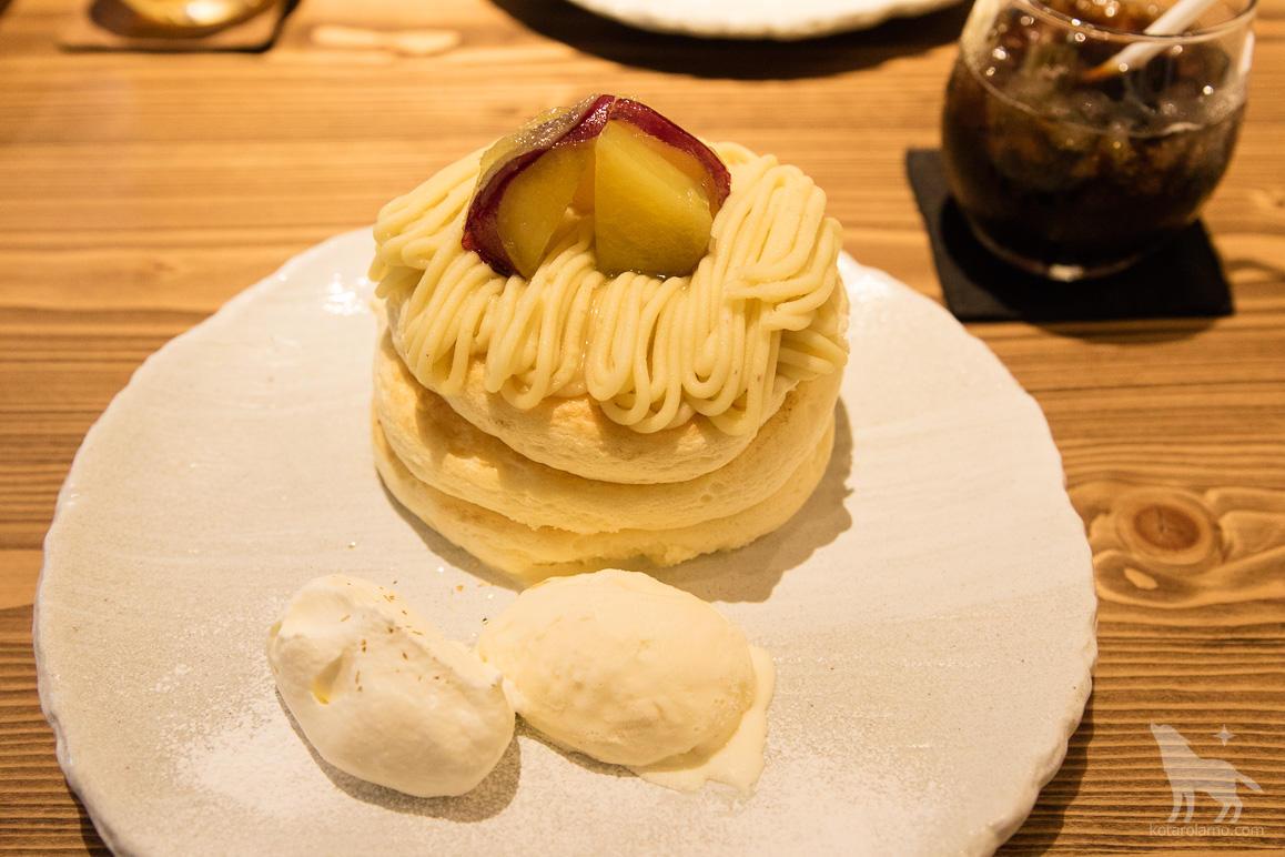 五郎島金時のモンブランパンケーキ