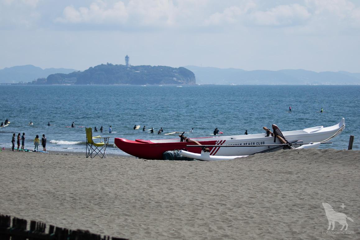 カヌーと江ノ島