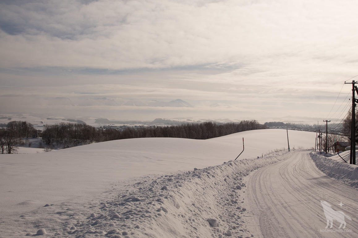 大雪山の山並み