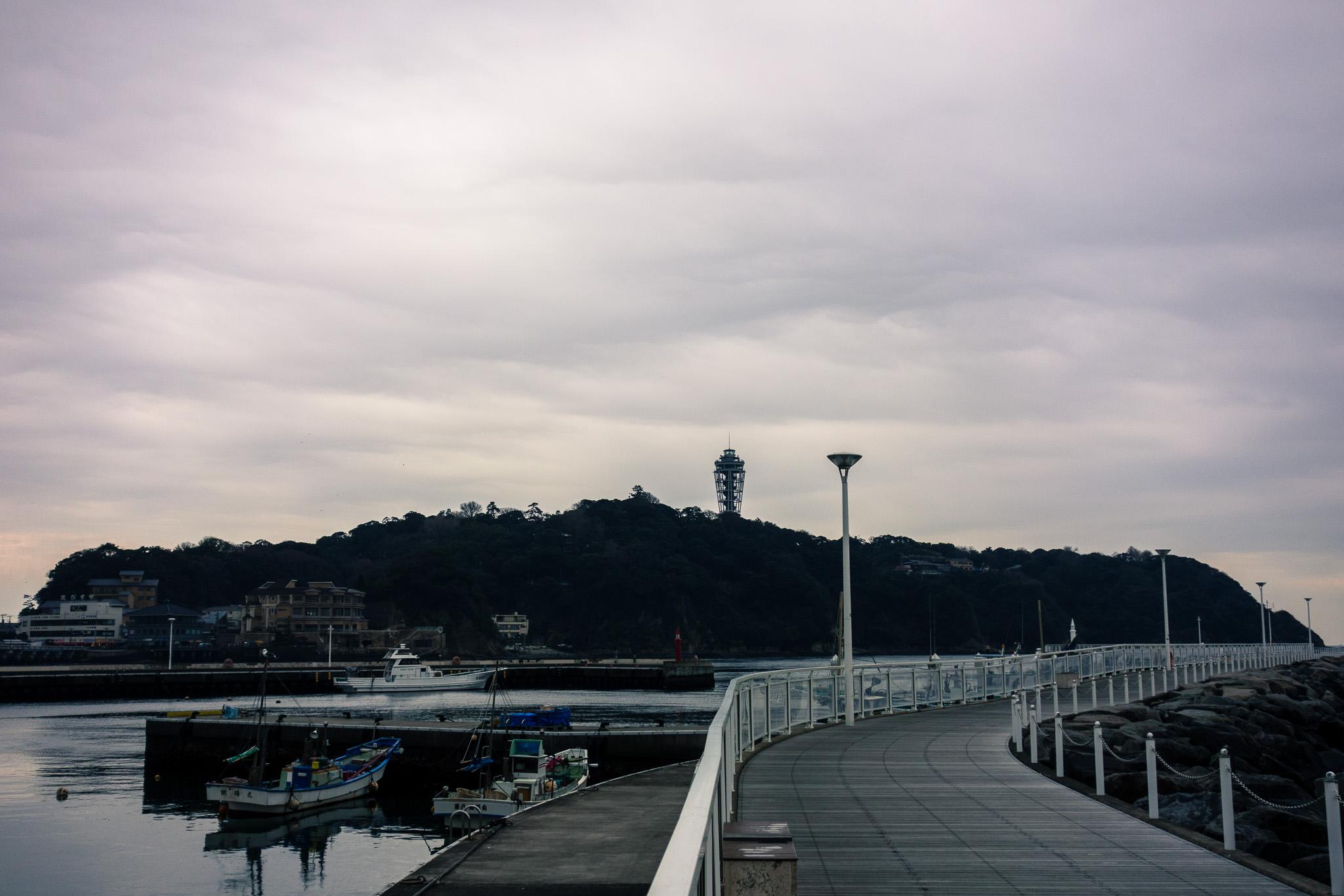 江ノ島で折り返し