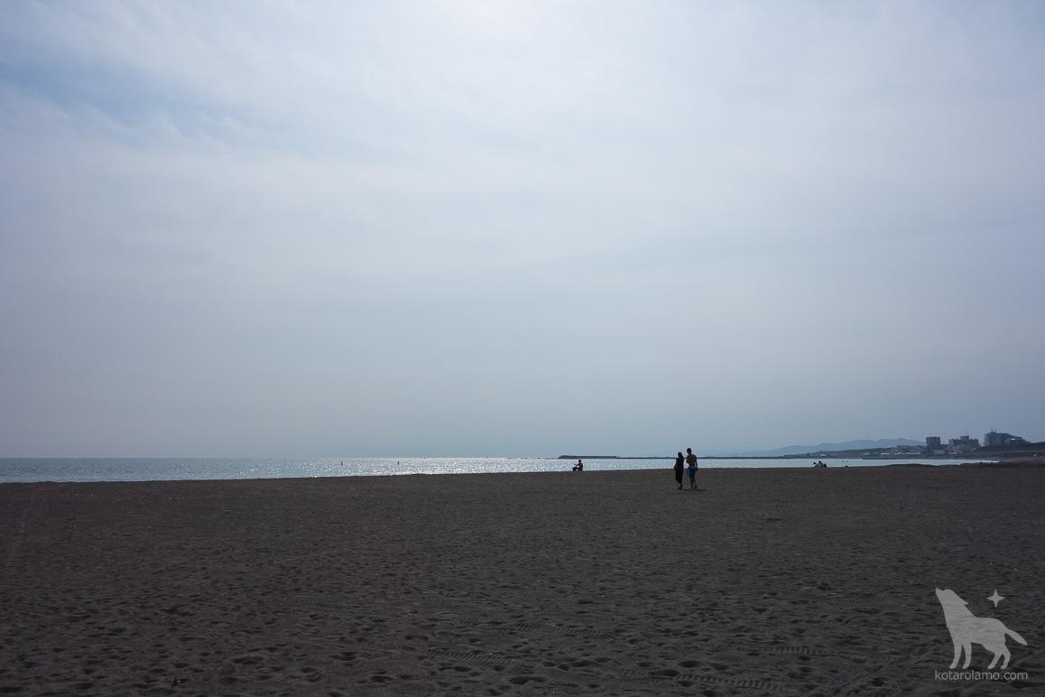 砂浜と輝く海