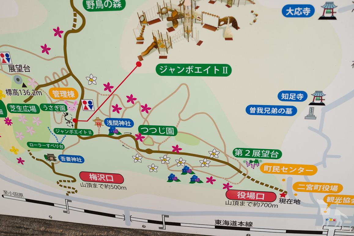 吾妻山公園の地図