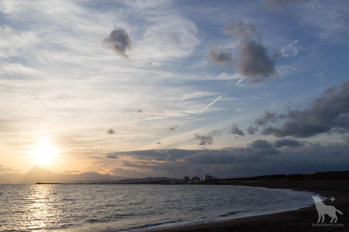 夕暮れ時のヘッドランドビーチ