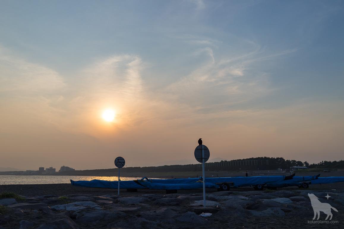 ヘッドランドビーチの夕暮れ