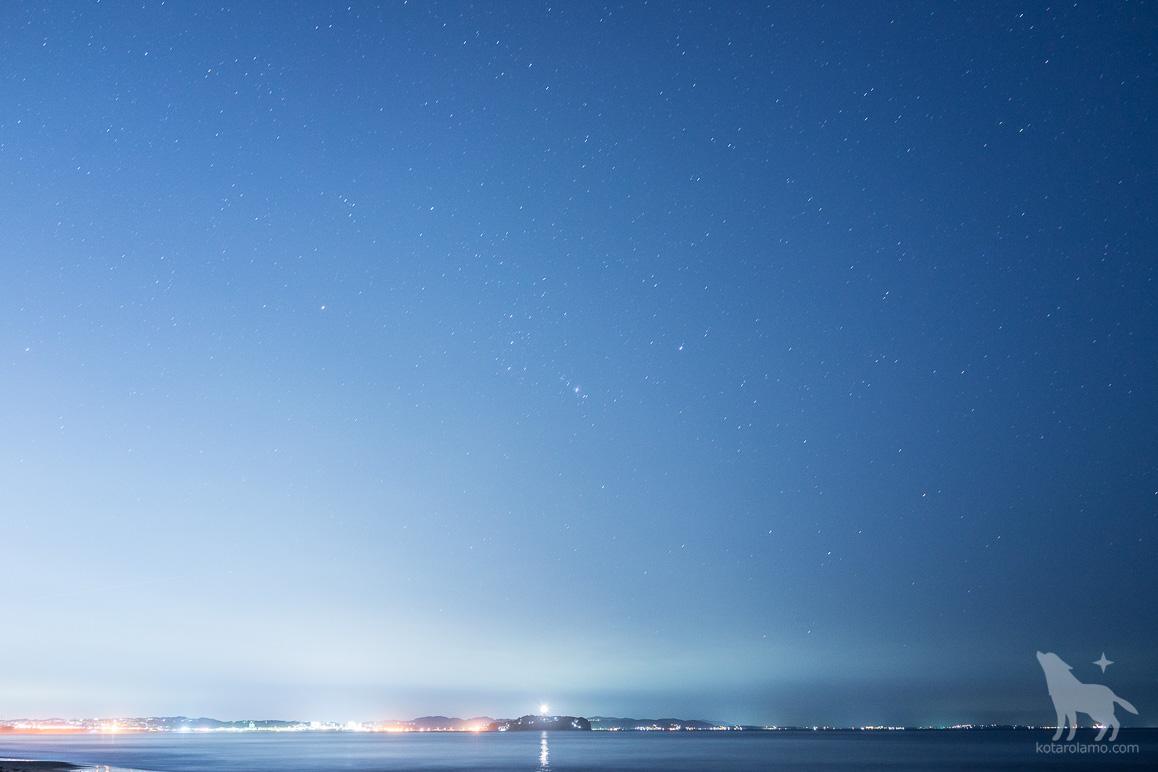 江ノ島と星空 (2)