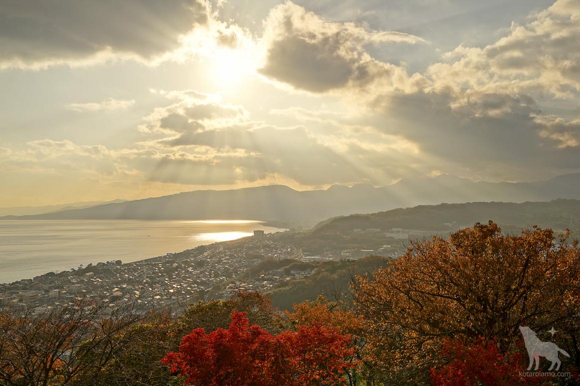 吾妻山から相模湾を眺める