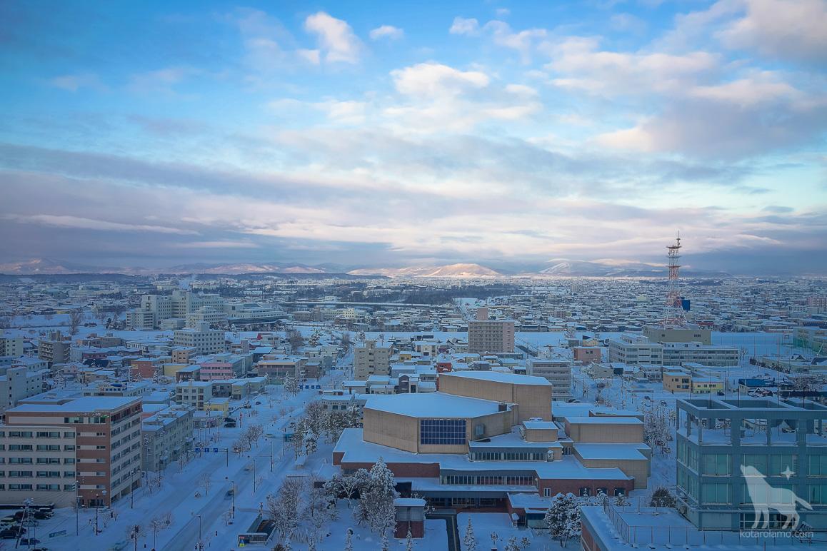 旭川グランドホテルから見た風景